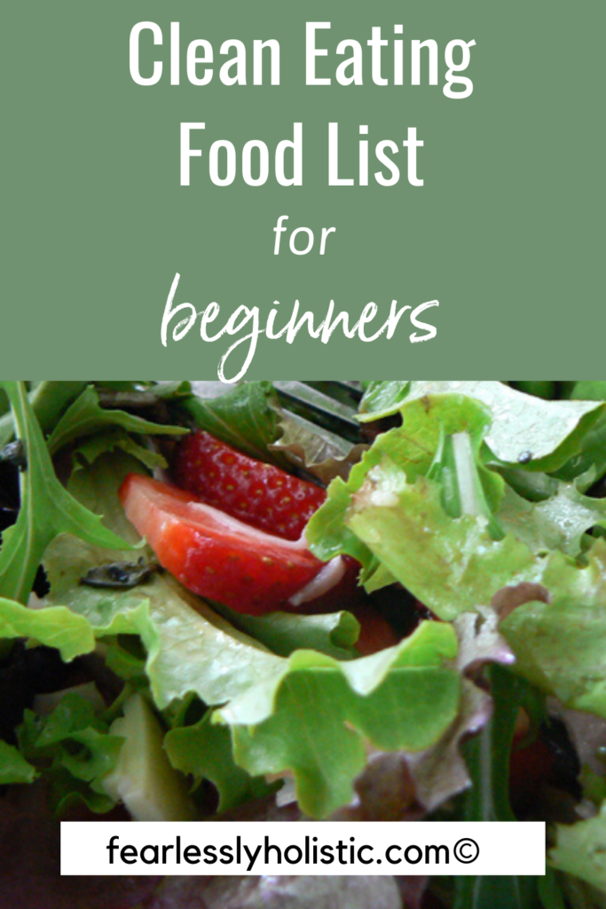 pin image for clean eating food list