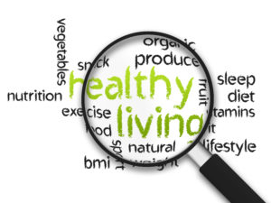 photo of various words that describe healthy living