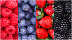 Raspberry, Blueberry, Strawberry, and Blackberry