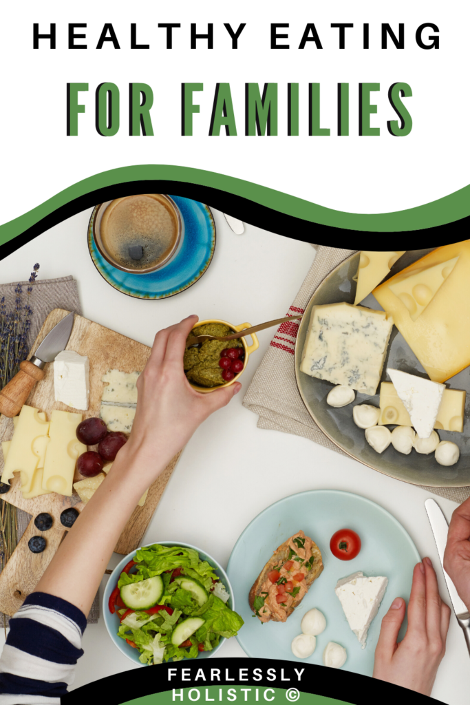 Healthy Eating for Families pin image