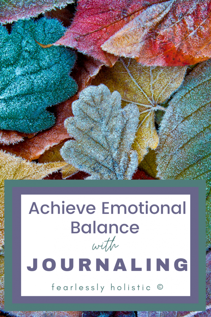 cultivate emotional balance with journaling