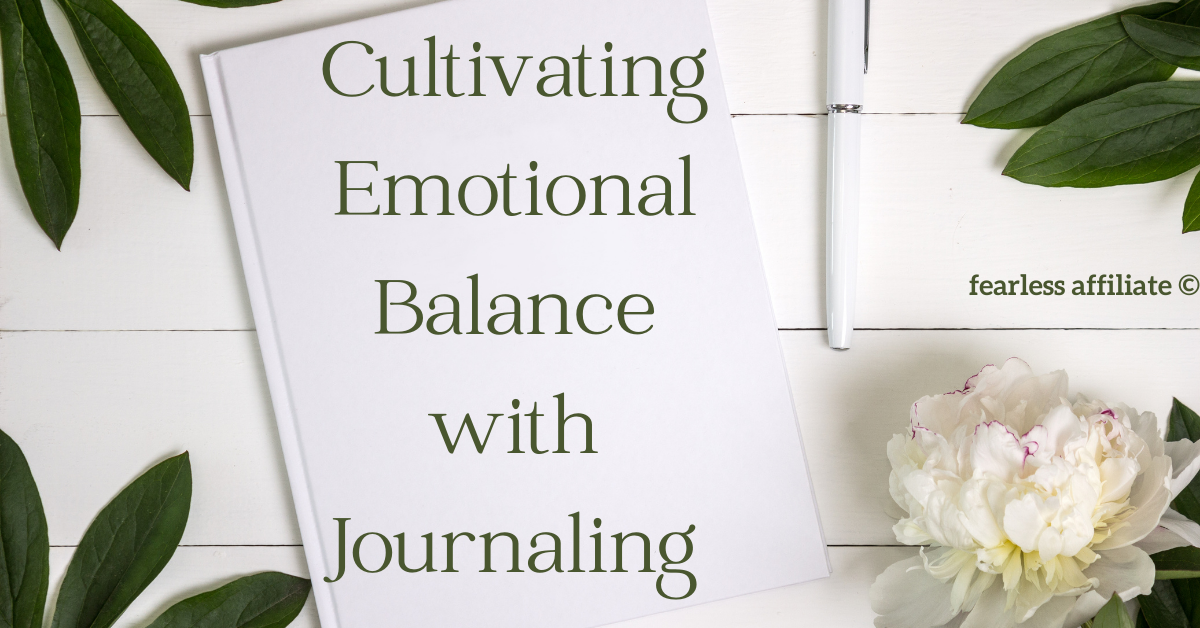 emotional balance with journaling