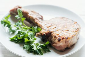 steak with parsley